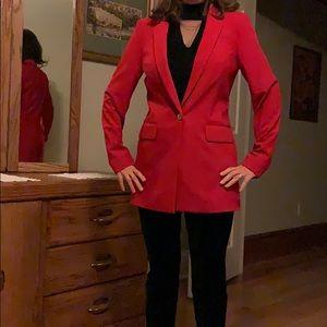 Red Calvin Klein blazer